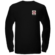 """D.O.Z.E.D"" Pocket Seal Men's Long Sleeve T-shirt - Black"