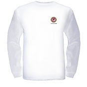"""D.O.Z.E.D"" Pocket Seal Men's Long Sleeve T-shirt - White"