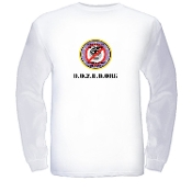 """D.O.Z.E.D"" Seal Men's Long Sleeve T-shirt - White"